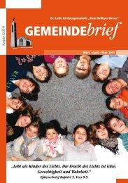 Gemeindebrief Ausgabe 2/2011 - Ev.-Luth. Kirchengemeinde .Zum ...