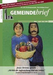 Gemeindebrief Ausgabe 2/2009 - Ev.-Luth. Kirchengemeinde .Zum ...