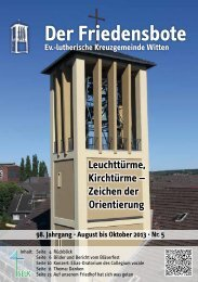August-September-Oktober 2013 - Kreuzgemeinde Witten