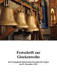 Festschrift zur Glockenweihe - Kreuzkirche Lingen