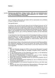 Stadtrat betreffend Beantwortung Schriftliche Anfrage ... - Kreuzlingen