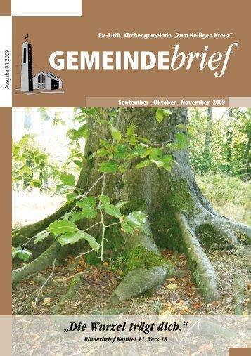 Gemeindebrief Ausgabe 4/2009 - Ev.-Luth. Kirchengemeinde .Zum ...