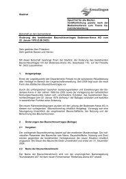 Botschaft Änderung des bestehenden ... - Kreuzlingen