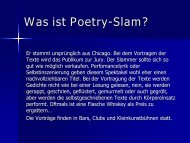 Was ist Poetry-Slam? - Kreuzlingen