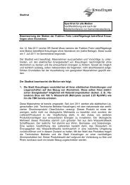 Stadtrat Sperrfrist für alle Medien Veröffentlichung erst ... - Kreuzlingen