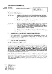 Merkblatt Nebenkosten - Kreuzlingen