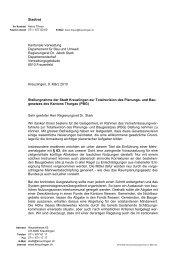 Stadtrat Kantonale Verwaltung Departement für Bau ... - Kreuzlingen