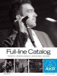 Full-line Catalog - AKG