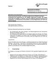 Genehmigung des Energie - Kreuzlingen