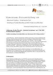 Pressemeldung lesen - KulturRegion Frankfurt RheinMain