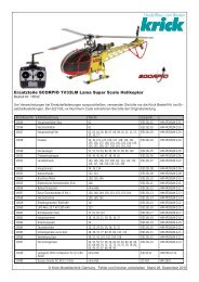 Scorpio Helikopter 1V33LM Lama Ersatzteilliste als PDF Datei - Krick