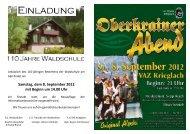 Samstag, dem 8. September 2012 mit Beginn um 14.00 Uhr