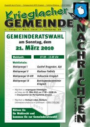 1. Folge / März 2010 - Gemeinde Krieglach