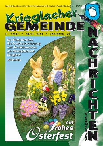 1. Folge / März 2013 - Gemeinde Krieglach