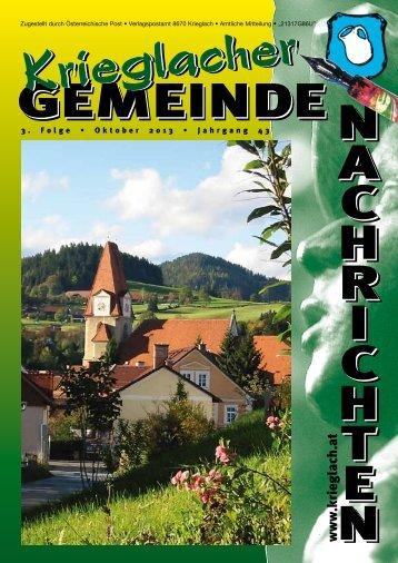 3. Folge • Oktober 2013 - Gemeinde Krieglach