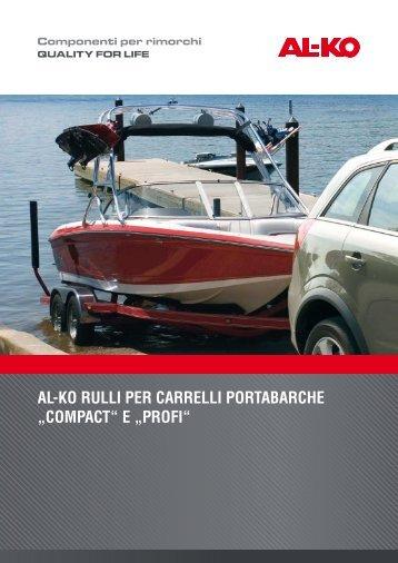 """AL-KO RULLI PER CARRELLI PORTABARCHE """"COMPACT"""" E ..."""