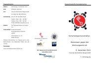 Tagungsflyer - Kooperationsstelle Kriminalprävention Bremen