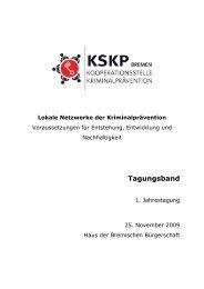 Tagungsband der 1. KSKP Jahrestagung, 25.11.2009 (pdf, 6.2 MB)