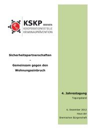 KSKP Jahrestagung 2012 - Kooperationsstelle Kriminalprävention ...