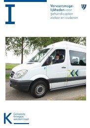 Vervoersmogelijkheden voor gehandicapten, zieken en ouderen in ...