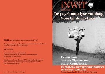 De psychoanalyse vandaag Voorbij de mythes De psychoanalyse ...