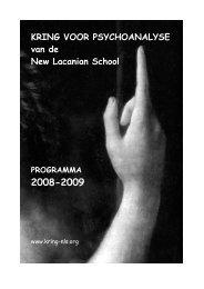 brochure 2008-2009.pdf - Psychoanalyse Lacan - Freud | NLS Kring ...