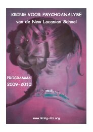 brochure 2009-2010.pdf - Psychoanalyse Lacan - Freud | NLS Kring ...