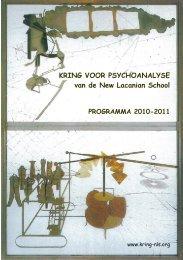 KRING VOOR PSYCHOANALYSE van de New Lacanian School ...