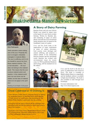 A Story of Dairy Farming - Bhaktivedanta Manor
