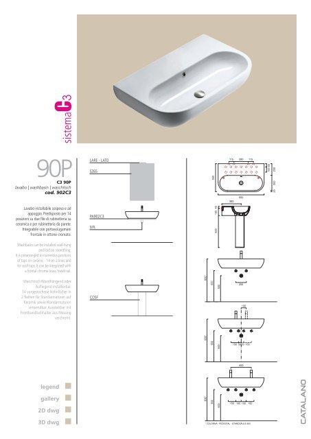Lavabo 3d Dwg.Catalano Catalogo Generale 2007 Krisma