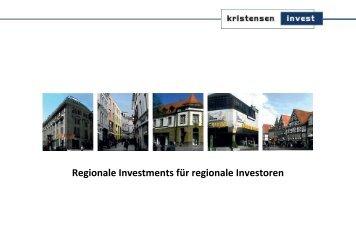 Image-Broschüre der Kristensen Invest GmbH
