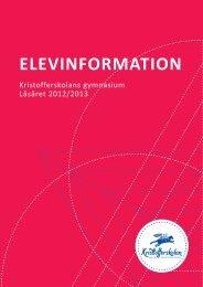 Elevinformation gymnasium - Kristofferskolan