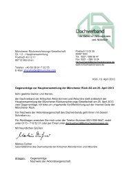 Gegenanträge - Dachverband der kritischen Aktionärinnen und ...