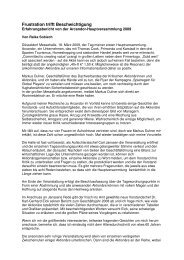 Erfahrungsbericht von der Arcandor-Hauptversammlung 2008