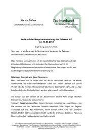 Rede Markus Dufner - Dachverband der kritischen Aktionärinnen ...