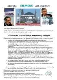 Kritischer Siemens Aktionärsbrief - Dachverband der kritischen ...