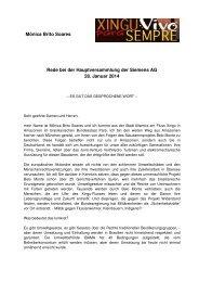 Rede Mônica Brito Soares, Xingu Vivo para Sempre