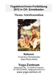 Informationen über das Schriftenstudium - Kriya Yoga