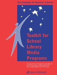 Toolkit for School Library Media Programs - American Library ...