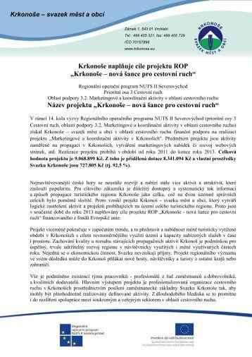 Více... (PDF) - Krkonoše