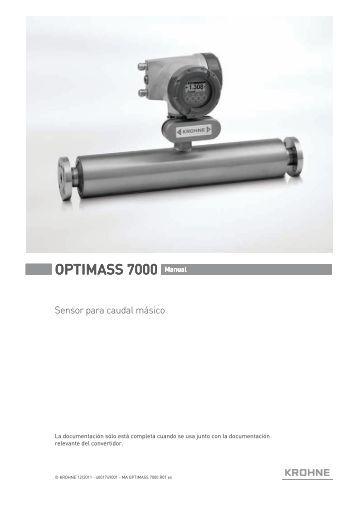 OPTIMASS MFM 7050/7150 K MFC 050/051 F MFS 7000/7100 F