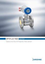 OPTIFLUX 7000 Quick Start