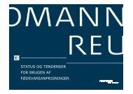 status og tendenser for brugen af fødevareanprisninger - Kromann ...