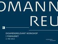 eksamensrelevant workshop i formueret - Kromann Reumert