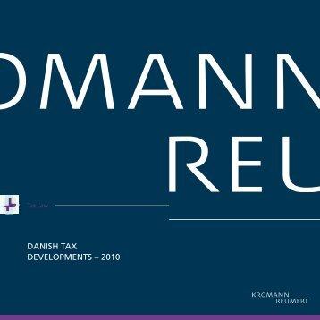 DANISH TAX DEVELOPMENTS – 2010 - Kromann Reumert