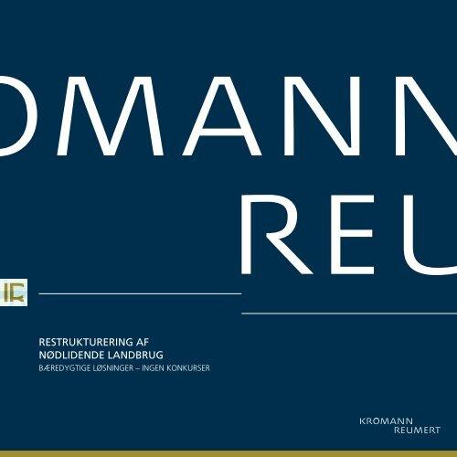 Restrukturering af nødlidende landbrug - Kromann Reumert