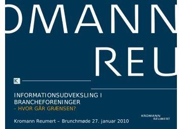informationsudveksling i brancheforeninger - Kromann Reumert