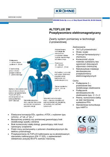 ALTOFLUX 2W Przepływomierz elektromagnetyczny