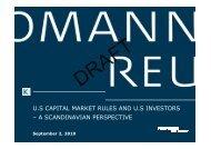 US Capital Market Rules and US Investors - Kromann Reumert