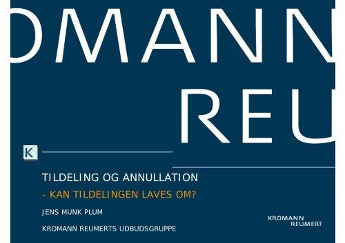 TILDELING OG ANNULLATION - Kromann Reumert